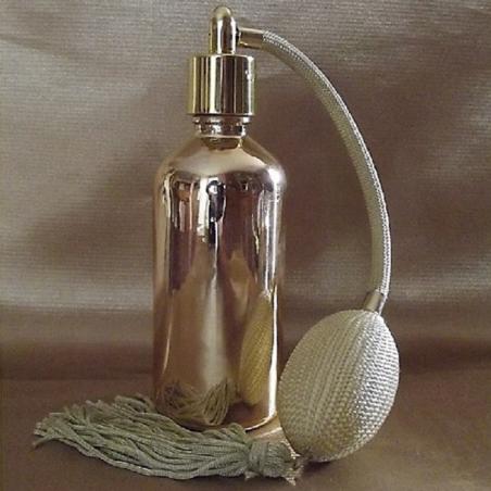 Vaporisateur de parfum poire or vide et rechargeable verre effet miroir or 100 ml