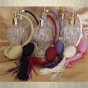 Vaporisateur de parfum poire boule sur pied 110 ml vide et rechargeable Poire rétro longue - Au pays des senteurs