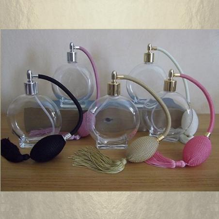 Vaporisateur de parfum poire rond plat 120 ml vide et rechargeable