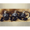 Vaporisateur de parfum noir forme boule coque effet marbre 125 ml vide et rechargeable