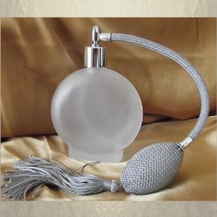 Vaporisateur de parfum poire rond plat givré 120 ml vide et rechargeable Vaporisateurs de parfum