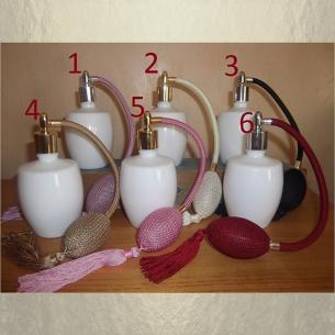 Vaporisateur de parfum poire verre blanc 125 ml vide et rechargeable Poire rétro longue