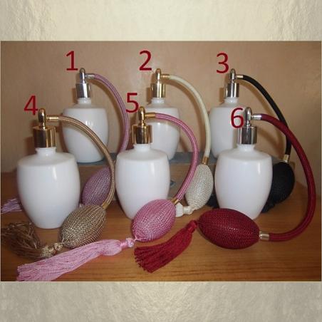 Vaporisateur de parfum poire verre blanc 125 ml vide et rechargeable