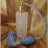Vaporisateur de parfum poire verre givré tube rond 130 ml vide et rechargeable