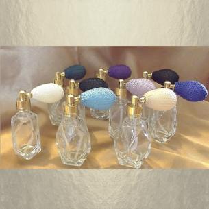 Vaporisateur de parfum poire courte facette 15 ml vide et rechargeable facette Poire rétro courte - Au pays des senteurs