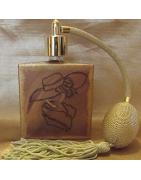 Vaporisateurs de parfum artisanal peint a main levée