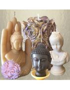Bougies sculptures décoration cire naturelle