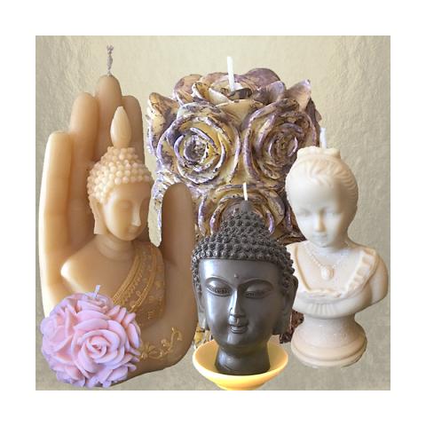 Bougies sculptures décoration|aupaysdessenteurs.com