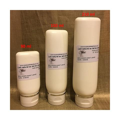 Laits naturels pour le visage et le corps  avec ou sans parfum
