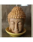 Bougies sculptures artisanales, décoration, cire naturelle sans parfum