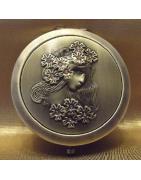 Miroirs de sac, de poche de luxe bronze