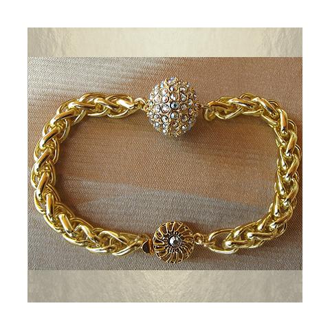 Bracelet boule CRISTAL DE SWAROVSKI  artisanal|aupaysdessenteurs.com
