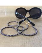 Cordon à lunettes CRISTAL DE SWAROVSKI et collier 2 en 1