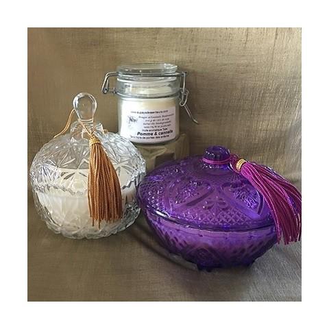 Bougies parfumées cire naturelle 100% végétale|aupaysdessenteurs.com