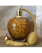 Vaporisateurs de parfum poire rétro de luxe verre artisanal