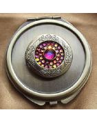 Miroirs de sac de luxe Cristal de Swarovski