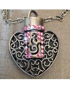 Collier pendentif fiole à parfum Cristal de Swarovski