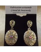 Boucles d'oreilles diffuseur de parfum Cristal de Swarovski