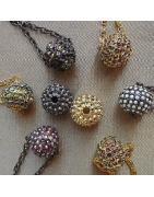 Bijoux boules strass Cristal de Swarovski artisanales