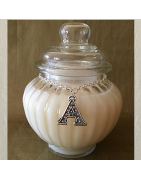 Bougie initiale Cristal de Swarovski personnalisée