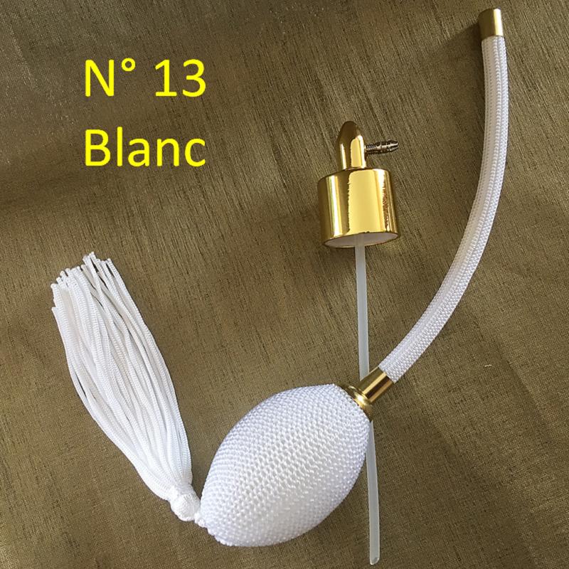 Poire vaporisateur de parfum N° 13 blanche