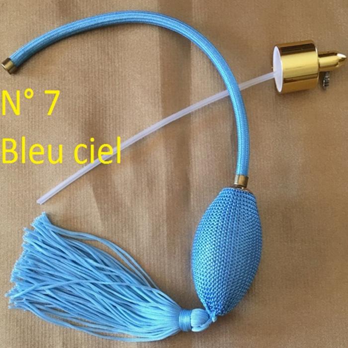 Poire vaporisateur de parfum N° 7 bleu ciel